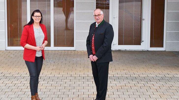 Bürgermeister Gerald Preimel und LRin Sara Schaar