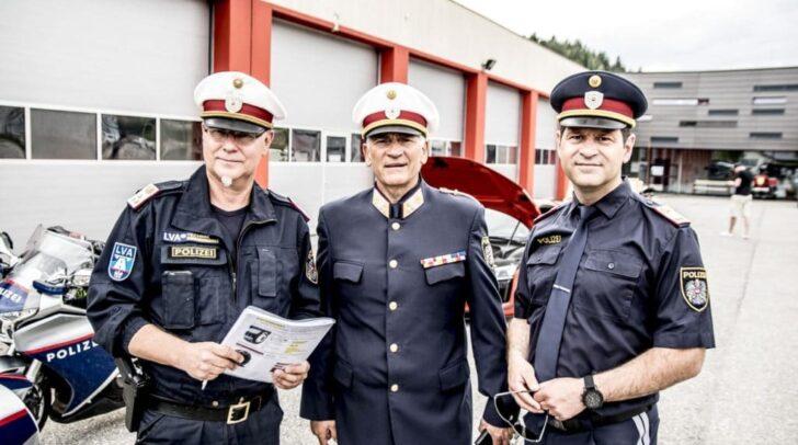 Chefinspektor Norbert Rohseano, Chefinspektor Horst Binder und Kontrollinspektor Mario Nemetz
