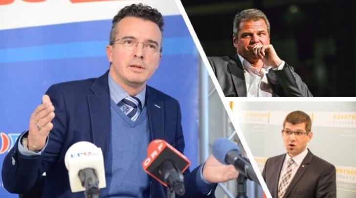 FPÖ-Landesparteiobmann Gernot Darmann (links), Team Kärnten-Chef Gerhard Köfer (rechst oben) und ÖVP-Landesparteiobmann Martin Gruber (rechts unten) reagierten auf die geplanten Öffnungsschritte im Mai.