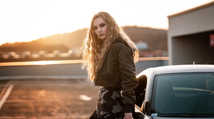 Marissa Tschinder bei einem internationalen Werbejob für Cleansign