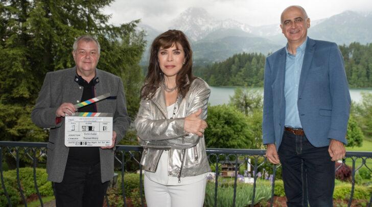 Von links: Produzent Wolfram Winkler, Schauspielerin Anja Kruse und Geschäftsführer der Tourismusregion, Georg Overs.