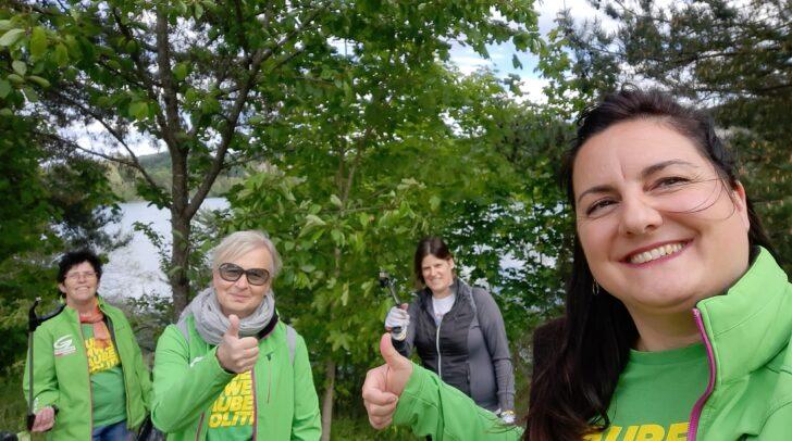 Susanne Zimmermann, Sabina Schautzer, Martina Wiltschnig und Karin Herkner waren im Einsatz für ein sauberes Silbersee-Ufer.