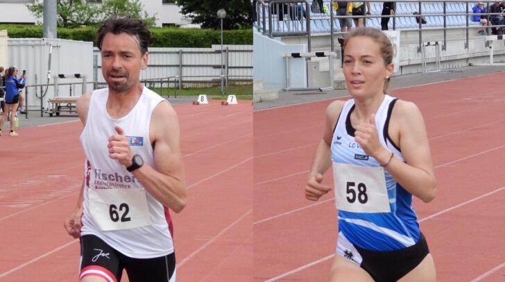 Landesmeister über 5000 Meter Müller und Kurath