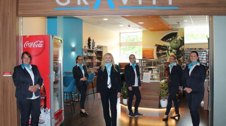 Die Mitarbeiter des neuen Gravity am Airport Klagenfurt.