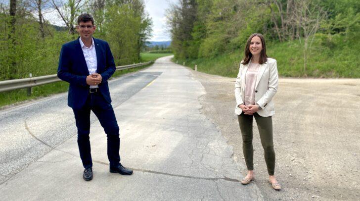 Landesrat Martin Gruber und Bürgermeisterin Andrea Feichtinger.