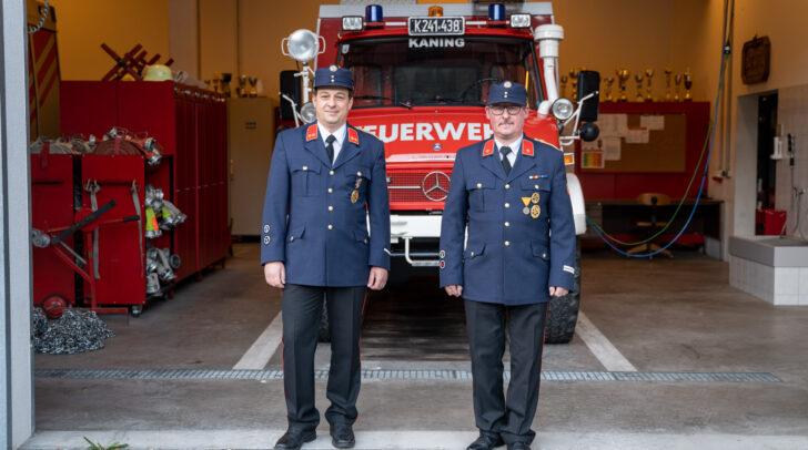 Kommandant Michael Erlacher und sein Stellvertreter Stefan Erlacher