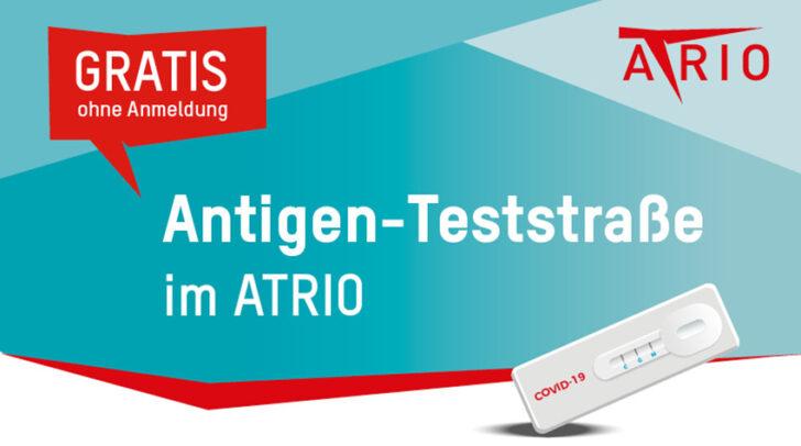 Ihr könnt euch beim ATRIO ohne Voranmeldung kostenlos testen lassen.