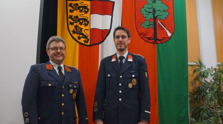 Die Kommandantschaft der Feuerwehr Kappel an der Drau