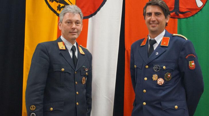 Die Kommandantschaft der Feuerwehr Kirschentheuer