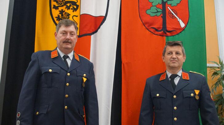 Die Kommandantschaft der Feuerwehr Ressnig