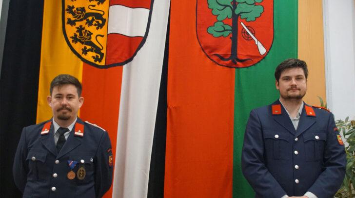 Die Kommandantschaft der Feuerwehr Unterferlach