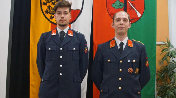 Die Kommandantschaft der Feuerwehr Waidisch