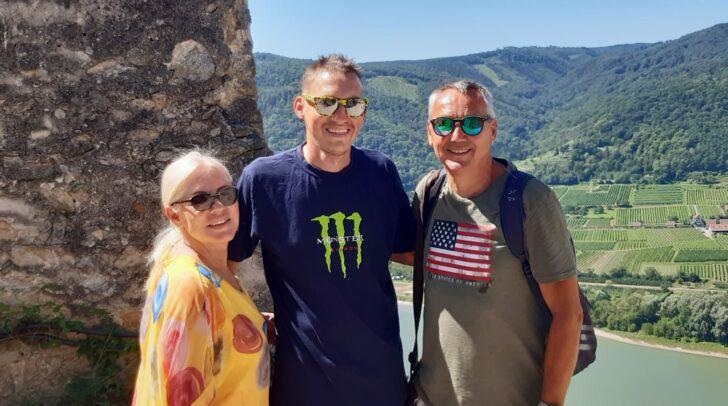 Pacult mit Frau Manuela und dem gemeinsamen Sohn