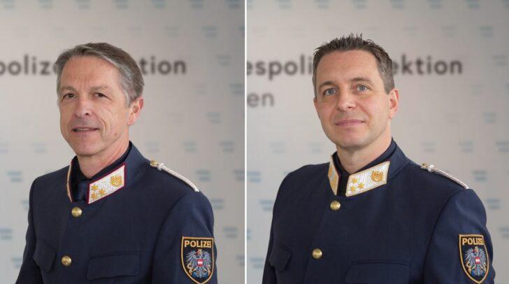 Chefinspektor Herbert Hartweger und Chefinspektor Markus Wernig