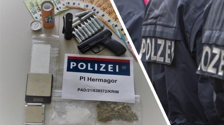 Neben Kokain und Cannabis wurden bei der Hausdurchsuchung auch mehrere Suchtgiftutensilien und Bargeld gefunden.