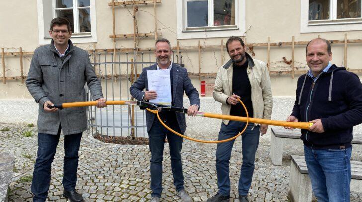 LR Martin Gruber, LAG-Obmann Bgm. Günther Vallant, Regionalmanager Peter Plaimer und LAG-Geschäftsführer Michael Baldauf