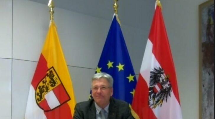 LH Peter Kaiser bei der Online-Diskussion.