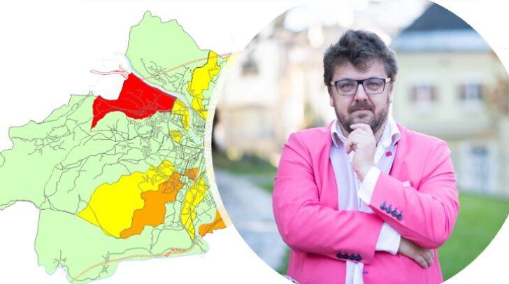 NEOS-Villach-Regionalkoordinator Bernhard Zebedin stellt die Sinnhaftigkeit der Villacher Corona-Karte in Frage.